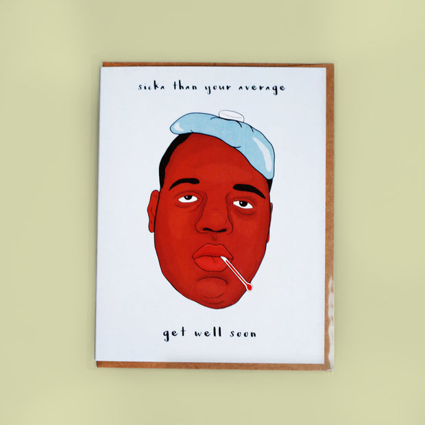 Biggie Smalls Get Well Soon Card - Party Mountain Paper Co.