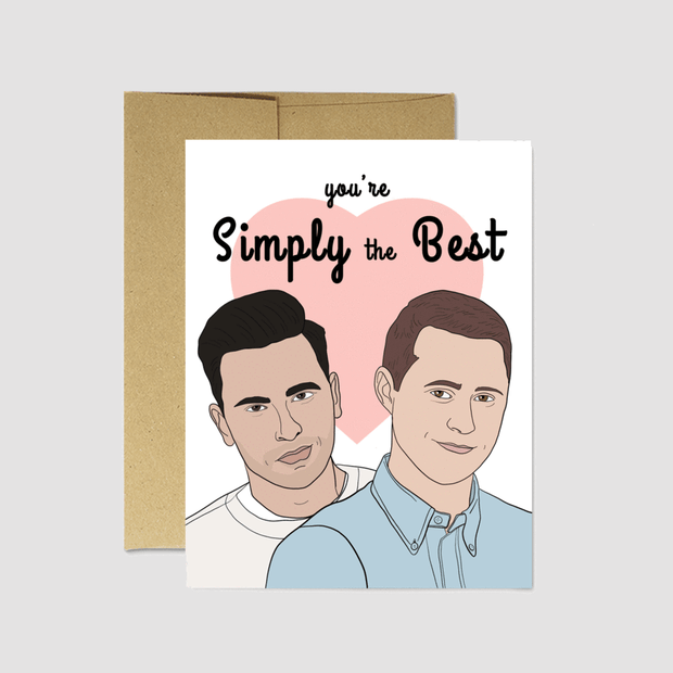 "Schitt's Creek ""Simply The Best"" Card - Party Mountain Paper Co."