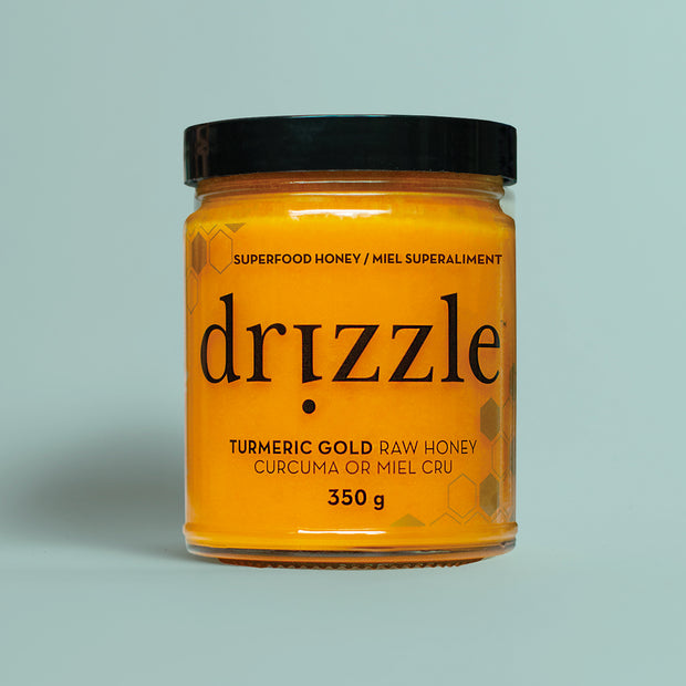 Drizzle - Turmeric Gold Raw Honey - Anti-Inflammatory Blend