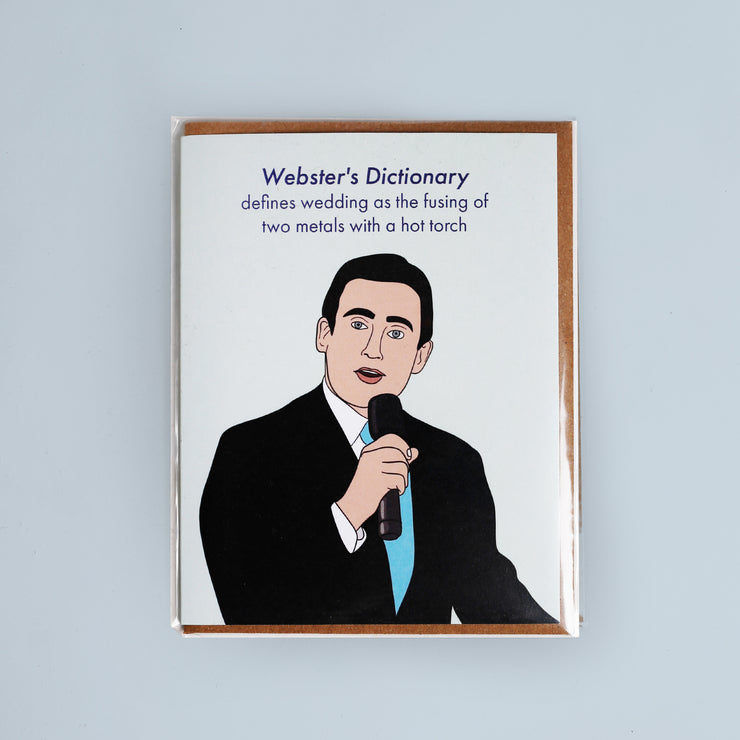 Michael Scott Webster's Dictionary Wedding Card - Party Mountain Paper Co.