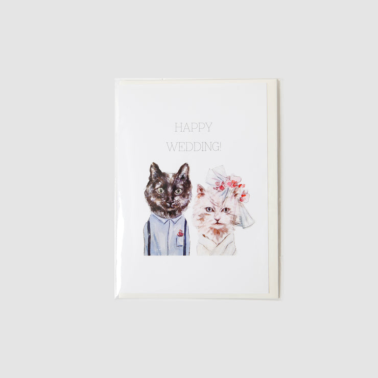 Happy Wedding - Cats Card - Gloria Ho Illustrations