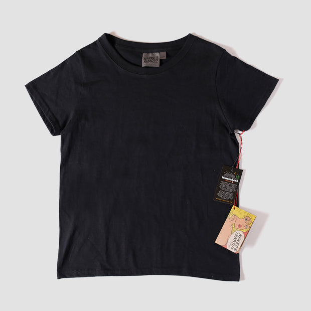 Women's Circular Knit Tshirt - Ringspun Cotton - Black