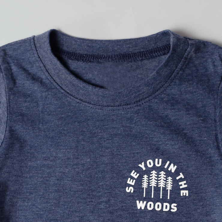Kids Recycled Tee - Woods - Heather Blue