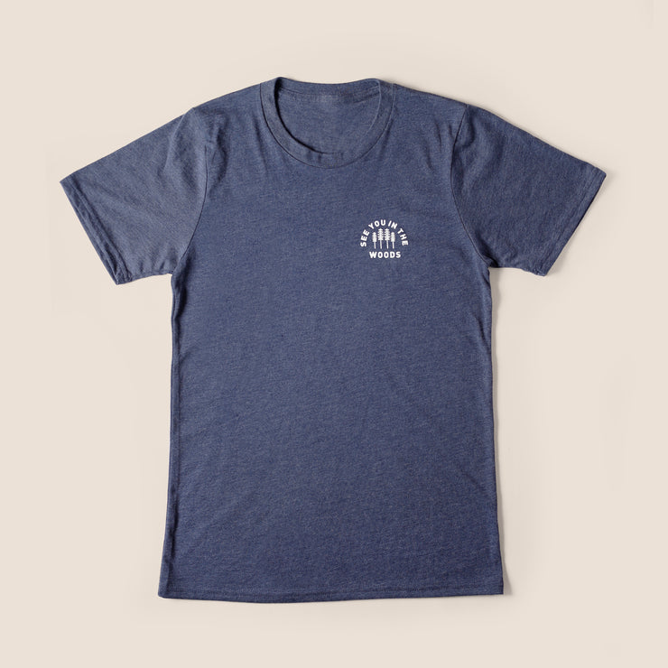 Recycled Tee - Woods - Heather Navy
