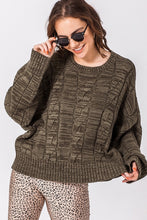 Load image into Gallery viewer, OLIVE MARBLE SWEATER