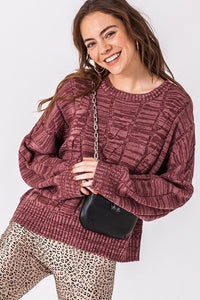 ROSE MARBLE SWEATER