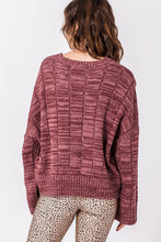 Load image into Gallery viewer, ROSE MARBLE SWEATER