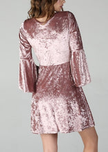 Load image into Gallery viewer, ICE PINK VELVET DRESS