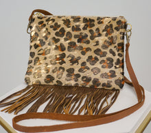 Load image into Gallery viewer, GOLD LEOPARD CROSSBODY