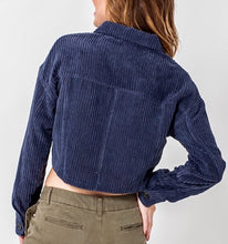 Load image into Gallery viewer, BLUE CORDUROY JACKET