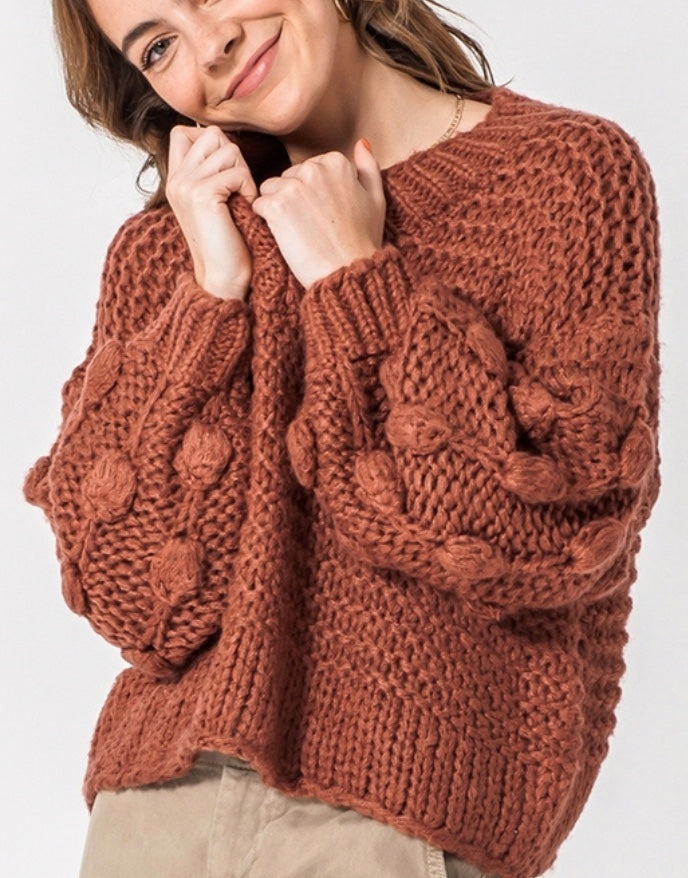 MAUVE BUBBLE SWEATER