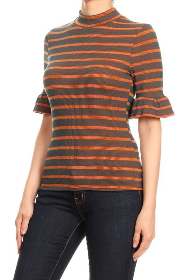 STRIPE MOCK COLLAR