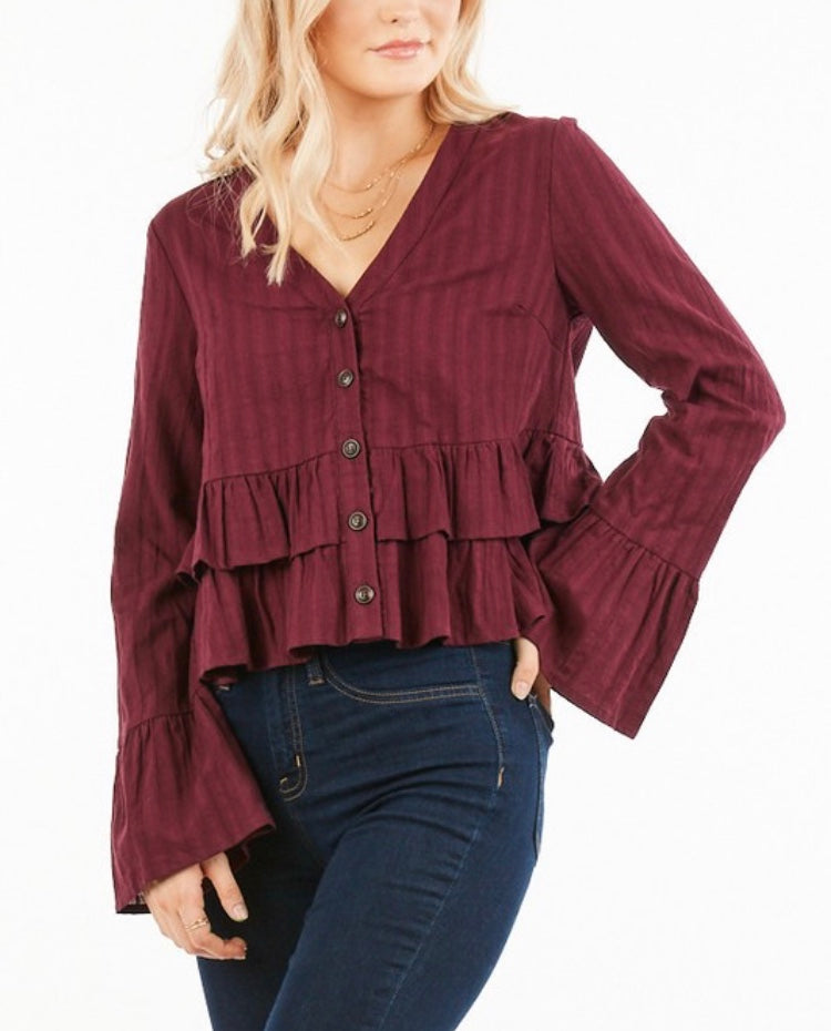TIERED PEPLUM BLOUSE