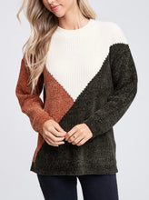 Load image into Gallery viewer, CREAM BLOCK SWEATER
