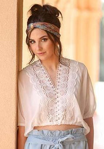 SUMMER ROMANCE WHITE LACE TOP