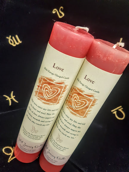 Red Love Reiki Charged Ritual Candle