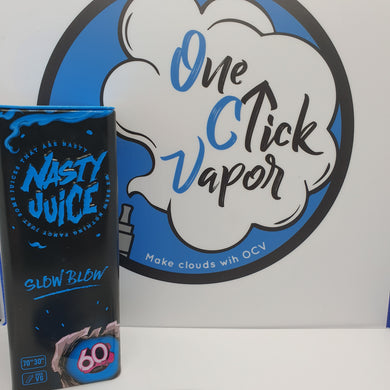 Nasty Juice - Slow Blow | 50ml | 70% VG | 0mg | Short Fill | Low Mint - One Click Vapor
