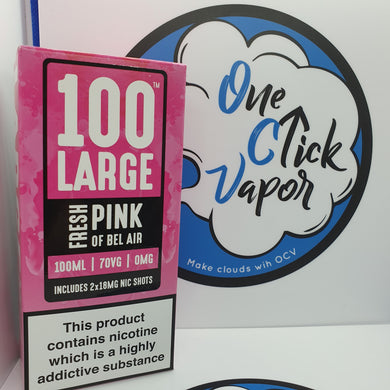 100 Large E-Liquids | Fresh Pink of Bel Air | 100ml | 70% VG | 0mg | Shortfill | FREE NIC SHOTS - One Click Vapor