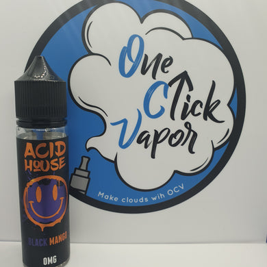 Acid House E-Liquid | Black Mango | 50ml | 70% VG | 0mg | Short Fill - One Click Vapor