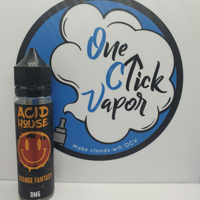 Acid House E-Liquid | Orange Fantasy | 50ml | 70% VG | 0mg | Short Fill - One Click Vapor