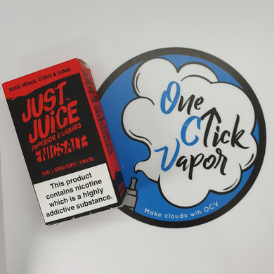 Just Juice | Blood Orange, Citrus & Guava |  Nic Salt | 10 ml | 11 / 20 mg | 50 VG / 50 PG - One Click Vapor