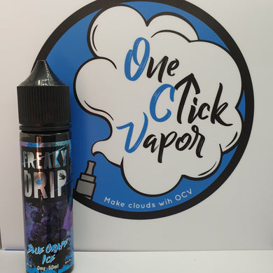 Freaky Drip E-Liquid - Blue Grape Ice 50ml - One Click Vapor