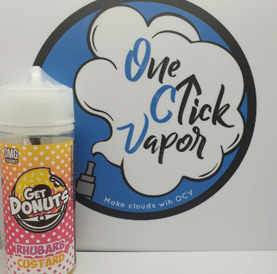 Get Donuts - Rhubarb Custard 100ml - One Click Vapor