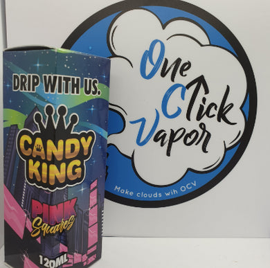 Candy King E-liquid - Pink Squares 100ml - One Click Vapor
