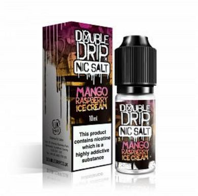 Double Drip Nic Salt - Mango Raspberry Ice Cream 10mg / 20mg 10ml - One Click Vapor