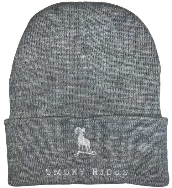 Beanie - Grey/White Folded
