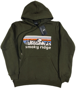Hoodie - Army Green Mountain