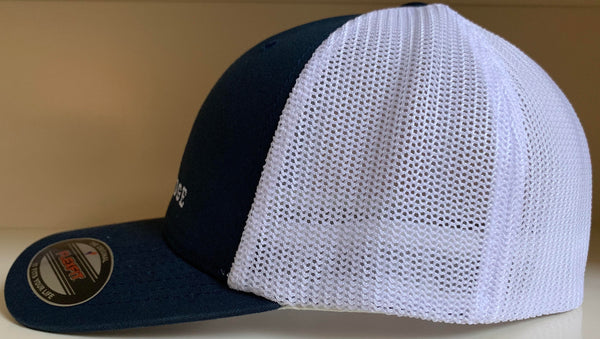 FlexFit Hat - Navy/White