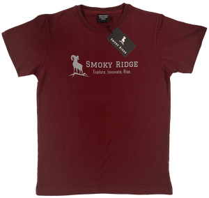 Short Sleeve - Burgundy Explore, Innovate, Rise.