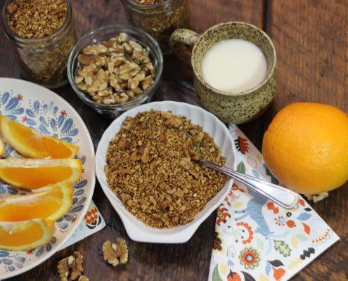 Low FODMAP Orange Walnut Granola-Live Free Foods-Low FODMAP