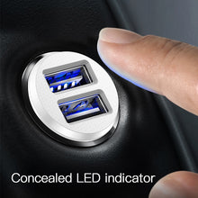 Load image into Gallery viewer, Mini Dual USB fast car charger