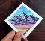 Purple Mountains Sticker