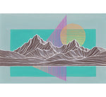 Mountain Lines IV Framed Original Painting