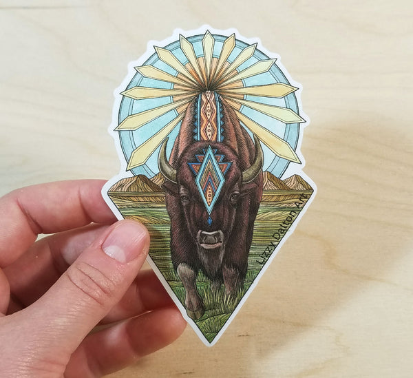 Sun Bison Sticker