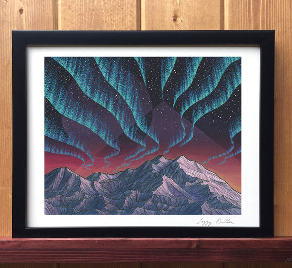 Denali Lights Print