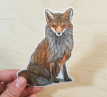 Sitting Fox Sticker