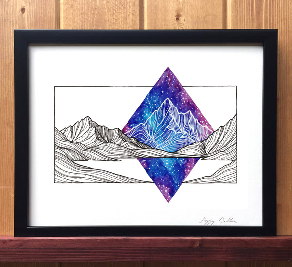 Galaxy Mountains Print