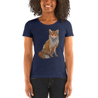 Sitting Fox Ladies' T-shirt