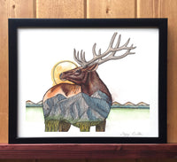 Mountain Elk Print