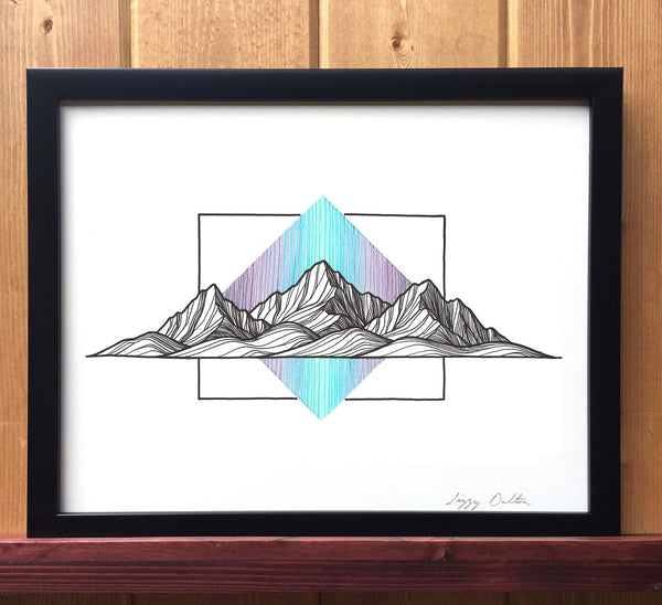Mountain Lines II Print