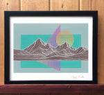 Mountain Lines IV Print