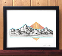 Mountain Lines Print