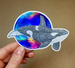 Holographic Orca Sticker