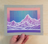 Pink and Purple Mountains Original Painting