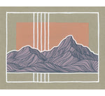 Purple Mountains and White Lines Original Painting