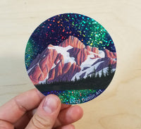 Mount Shuksan Glitter Sticker